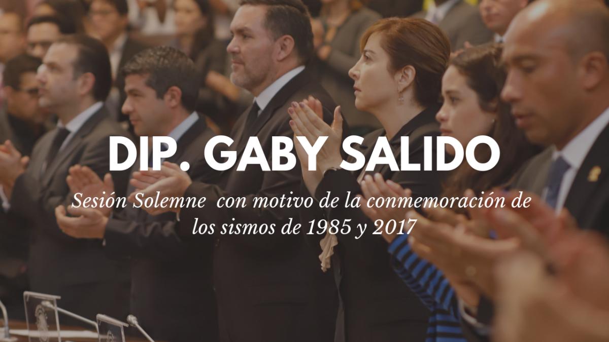 Sesión Solemne con motivo de los sismos de 1985 y 2017