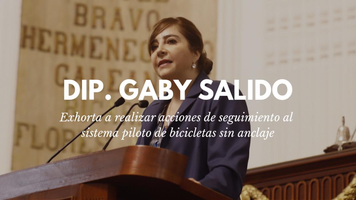 Exhorta Gabriela Salido a realizar acciones de seguimiento al sistema piloto de bicicletas sin anclaje