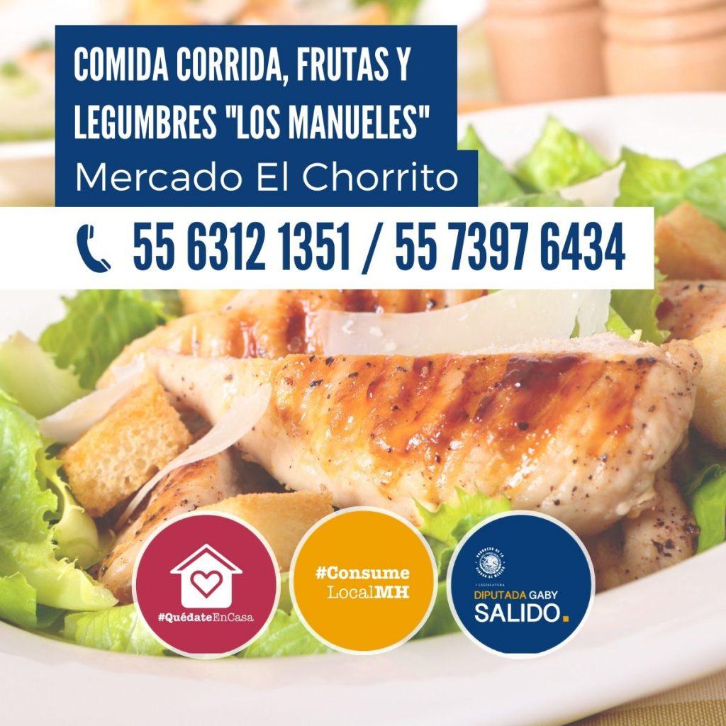 """Comida corrida, frutas y legumbres """"Los Manueles"""""""