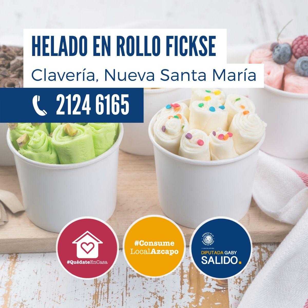 """Helado en Rollo """"Fickse"""""""