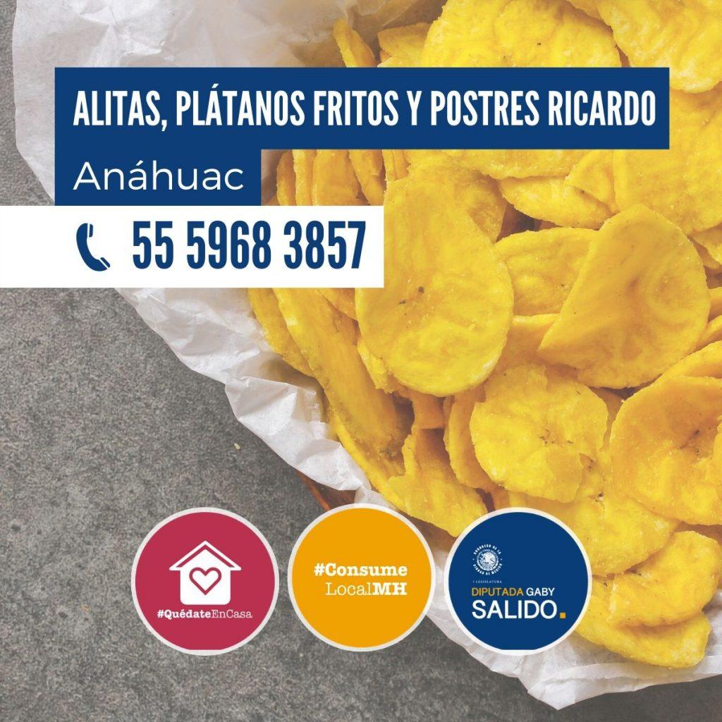 """Alitas, Plátanos  y Postres""""Ricardo"""""""