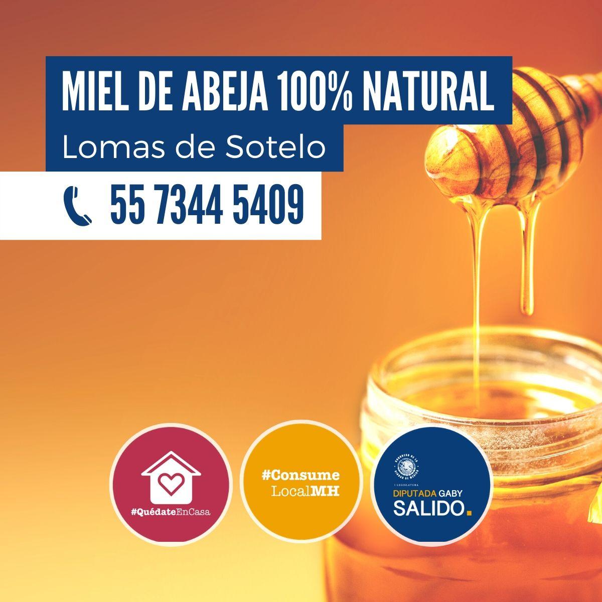 Miel de abeja 100% natural